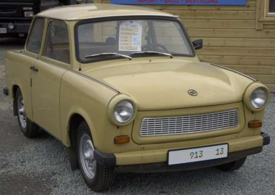 From the system of government who brought you the 2-cylinder horsepower of a car, the Trabant.
